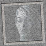 Kvinna i betong